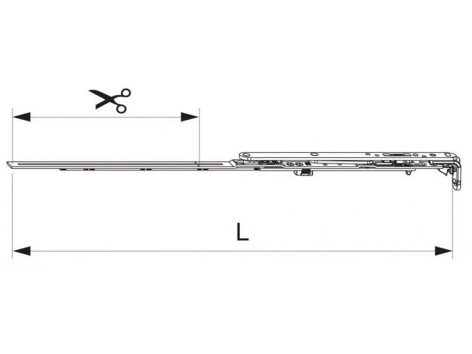 Nůžky MM montované se spárovým větráním 600 FFB 401-600, pravé