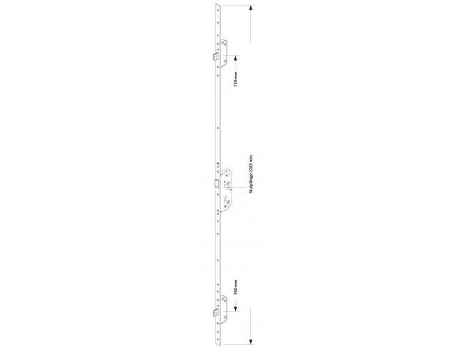 Zámek Secury Automatic s panikovou funkcí E (klika/koule) L/P, DM35/92/9/U24x6/1020 GU 6-32623-04-0-8