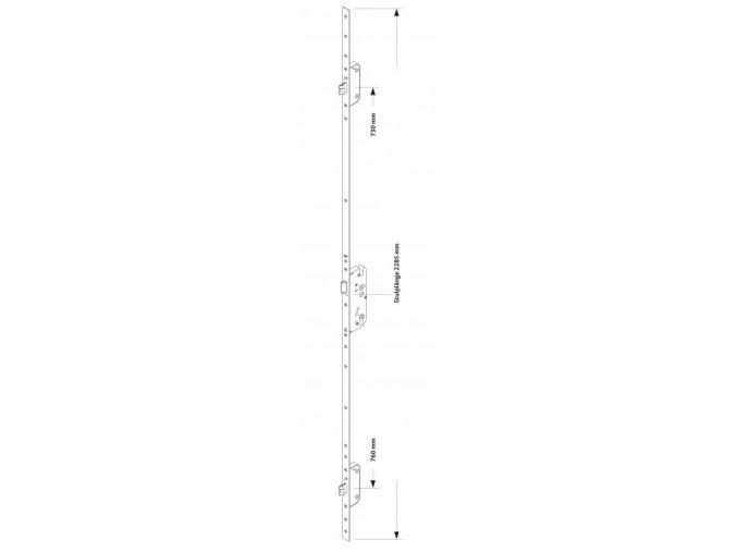 Zámek Secury Automatic s panikovou funkcí E (klika/koule) L/P, DM45/92/9/16/1020 GU 6-32623-16-0-8