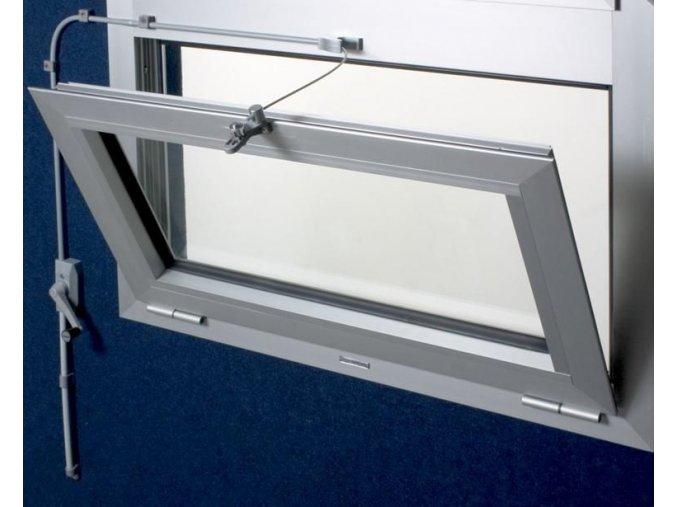 Soupravy pro otevírání oken s pantem dole 4,5m, bílá