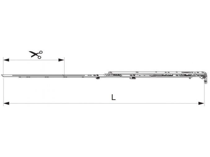 Nůžky MM montované se spárovým větráním 800 FFB 601-800, levé