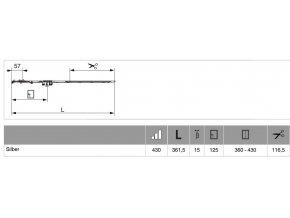 Převodovka Multi-Matic 430 DM15 fix s výklopem FFH 360-430 GM125 STŘÍBRNÁ