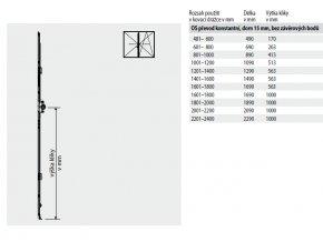 ROTO NT - Převod konstantní, dorn 15 mm BEZ závěrových čepů