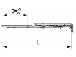 Nůžky MM montované se spárovým větráním 400 FFB 320-400, levé