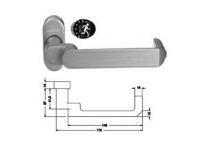 SCHÜCO Dveřní klika pro hliníkové dveře INOX leštěná nerez -S240191
