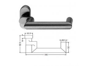 SCHÜCO Dveřní klika pro hliníkové dveře INOX leštěná nerez-S240010