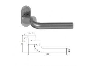 SCHÜCO Dveřní klika pro hliníkové dveře INOX leštěná nerez -S240028