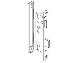 SCHÜCO Dveřní zámek pro hliníkové dveře pravolevý - dorn 35, rozteč 92, čelo ploché 245 -S241255
