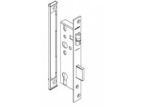 SCHÜCO Dveřní zámek pro hliníkové dveře s válečkem- dorn 35, rozteč 92, čelo ploché 245 -S241259