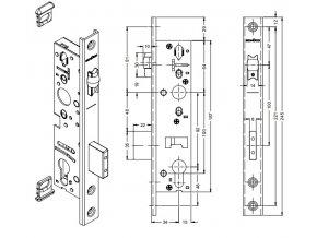SCHÜCO Dveřní zámek válečkový pro AL dveře -S241470