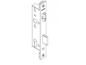SCHÜCO Dveřní zámek pro hliníkové dveře pravolevý s válečkem -  dorn 35, rozteč 92, čelo ploché 245 -S241520