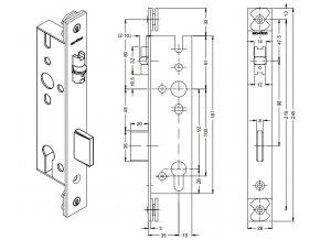 SCHÜCO Dveřní zámek válečkový pro AL dveře -S241520