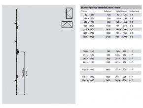 Hranový převod variabilní, dorn 15 mm, čep E a čep P