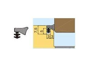 L 2020 Přídavné naléhávkové těsnění (pěnové), bílé, falc 7,5mm