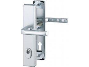 Dveřní kování London s překrytím, klika-klika, 8/92 mm, 66-72 mm, F1-stříbrná