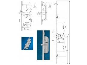 Z-TS zámek E92 DM45 PZ 2BO GM1.050 VK8 F-2.400x16 modular PT-M