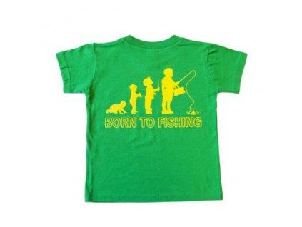 DOC Fishing Triko dětské s potiskem - zelené
