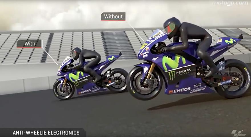MotoGP - jak fungují anti-wheelie