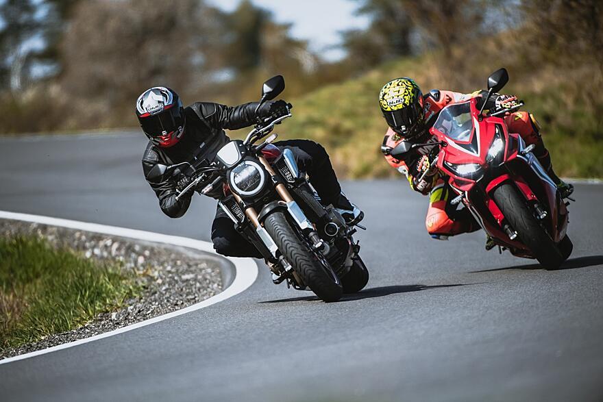 VIDEOTEST: Honda CB 650 R vs. CBR 650 R