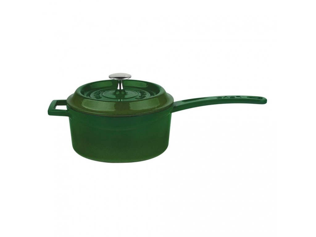 Litinový rendlík 16cm - zelený