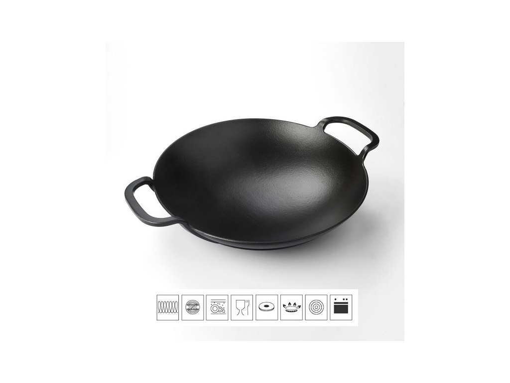 "Litinová pánev ""wok"" 38 cm"