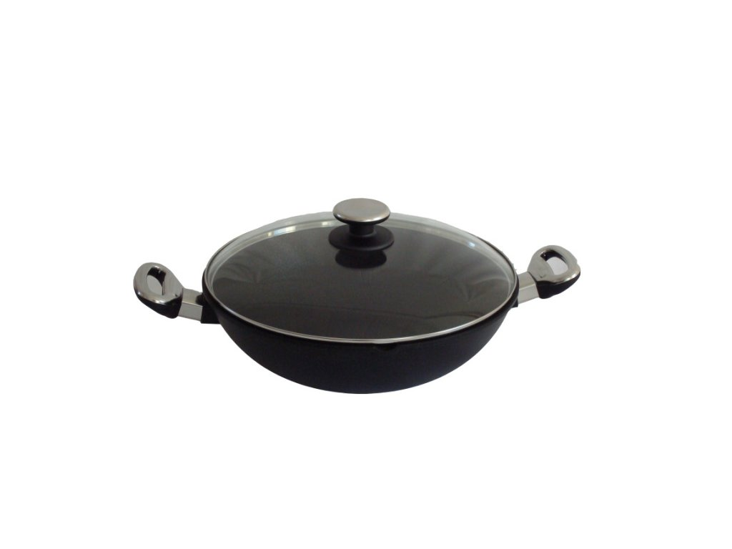 Titanový wok 32 cm s poklicí 4 l BAF Gigant