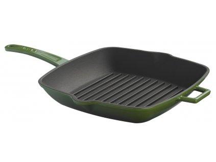 Litinová grilovací pánev 28x28 cm - zelená