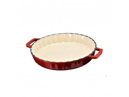 Litinová forma kulatá 30 cm - červená