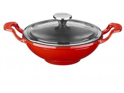Litinový wok 16 cm - červený