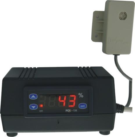 Regulátor vlhkosti s externím čidlem - hygrostat C/F