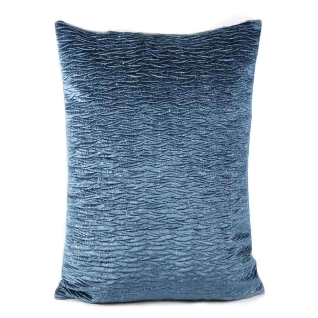 Modrá dekoračná obliečka na vankúš EVELYNE 45x45 cm