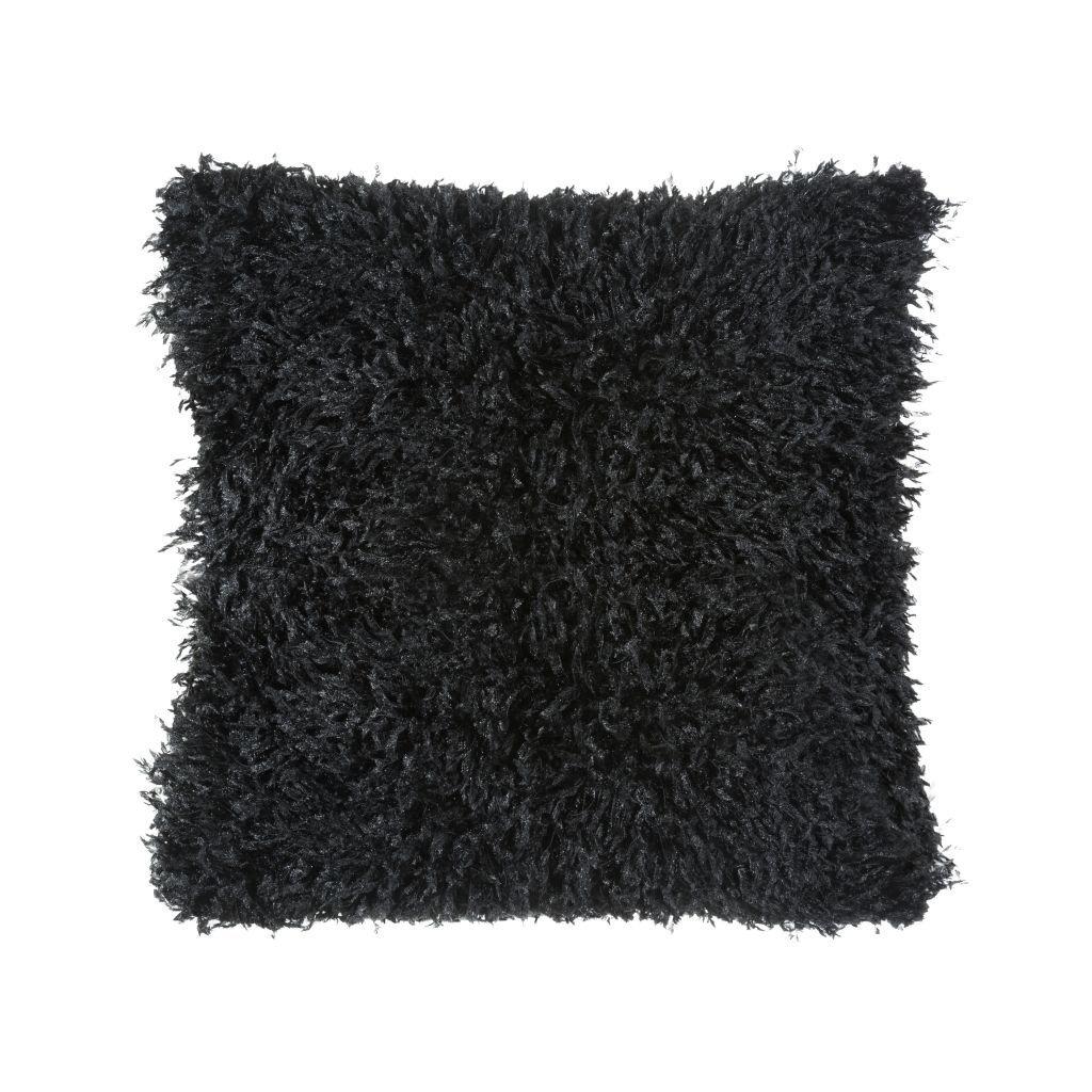 Čierna dekoračná obliečka na vankúš SULY 45x45 cm