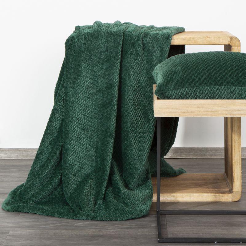 Hebká zelená deka CINDY3 s 3D efektom 150x200 cm BF