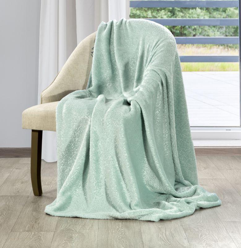 Jemná mentolová deka GLORIA 130x160 cm