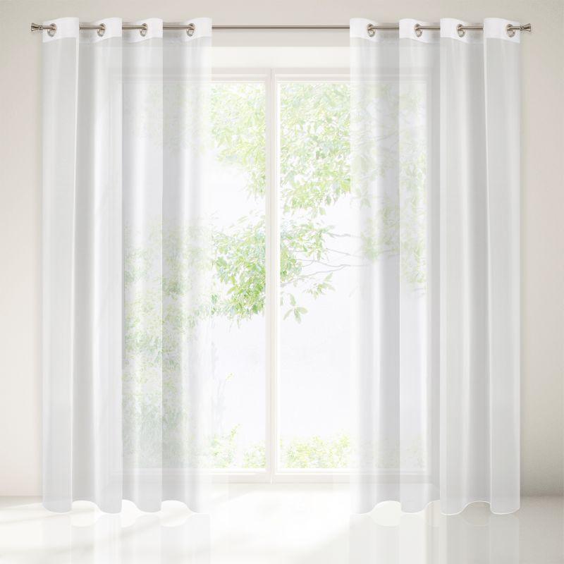 Biela záclona na krúžkoch ESEL 140x250 cm