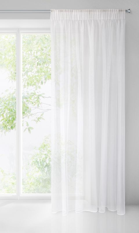 Biela záclona na páske ESEL 135x270 cm