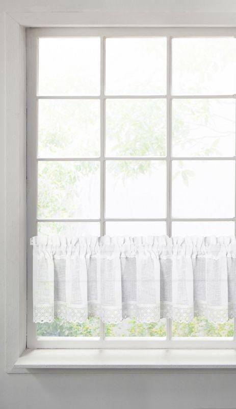 Biela záclona na páske LISA 150x30 cm