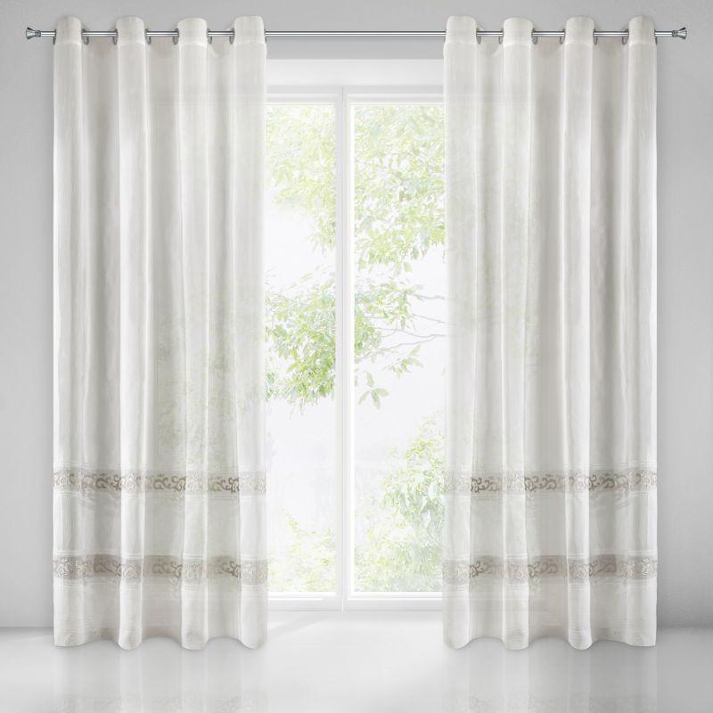 Biela záclona na krúžkoch ANNE 140x270 cm