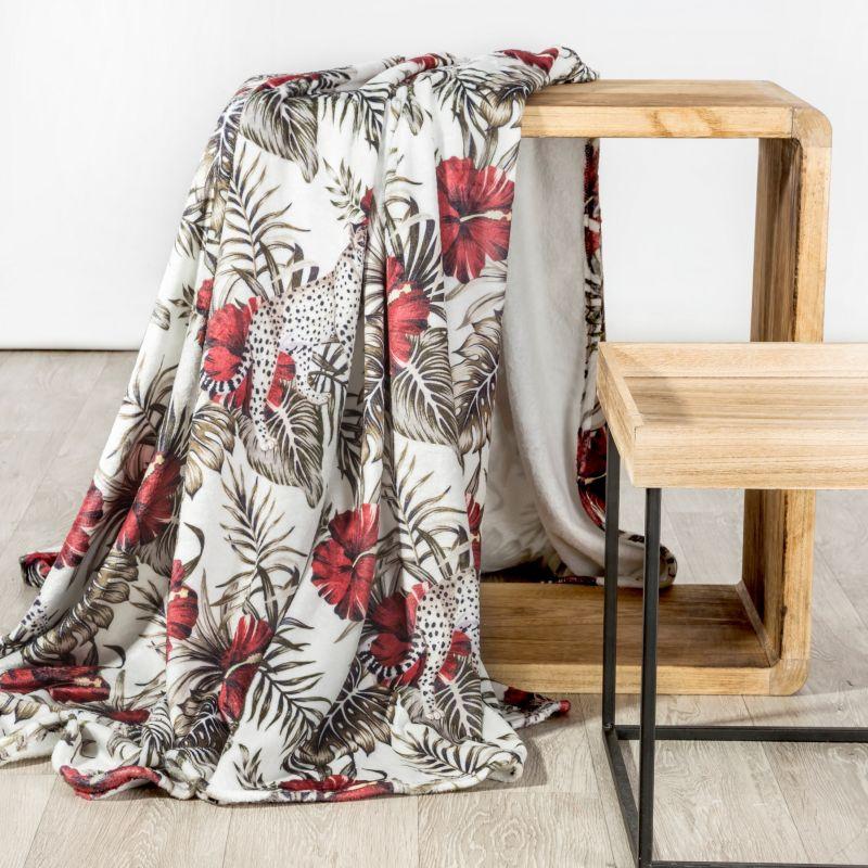 Jemná červená deka SALADO 150x200 cm
