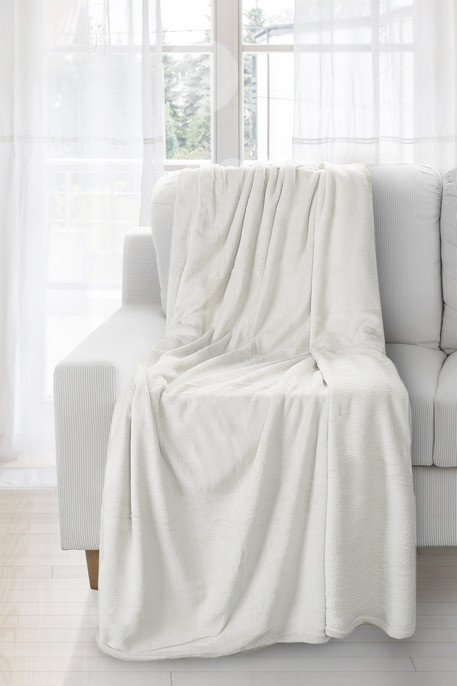 Jemná krémová deka SIMPLE 170x210 cm