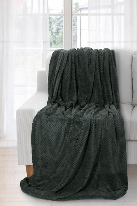 Hebká zelená deka RICKY 150x200 cm
