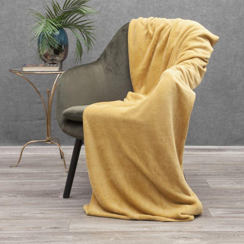 Jemná horčicová deka SIMPLE 150x200 cm