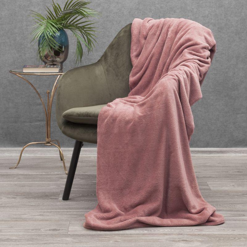 Jemná ružová deka SIMPLE 150x200 cm