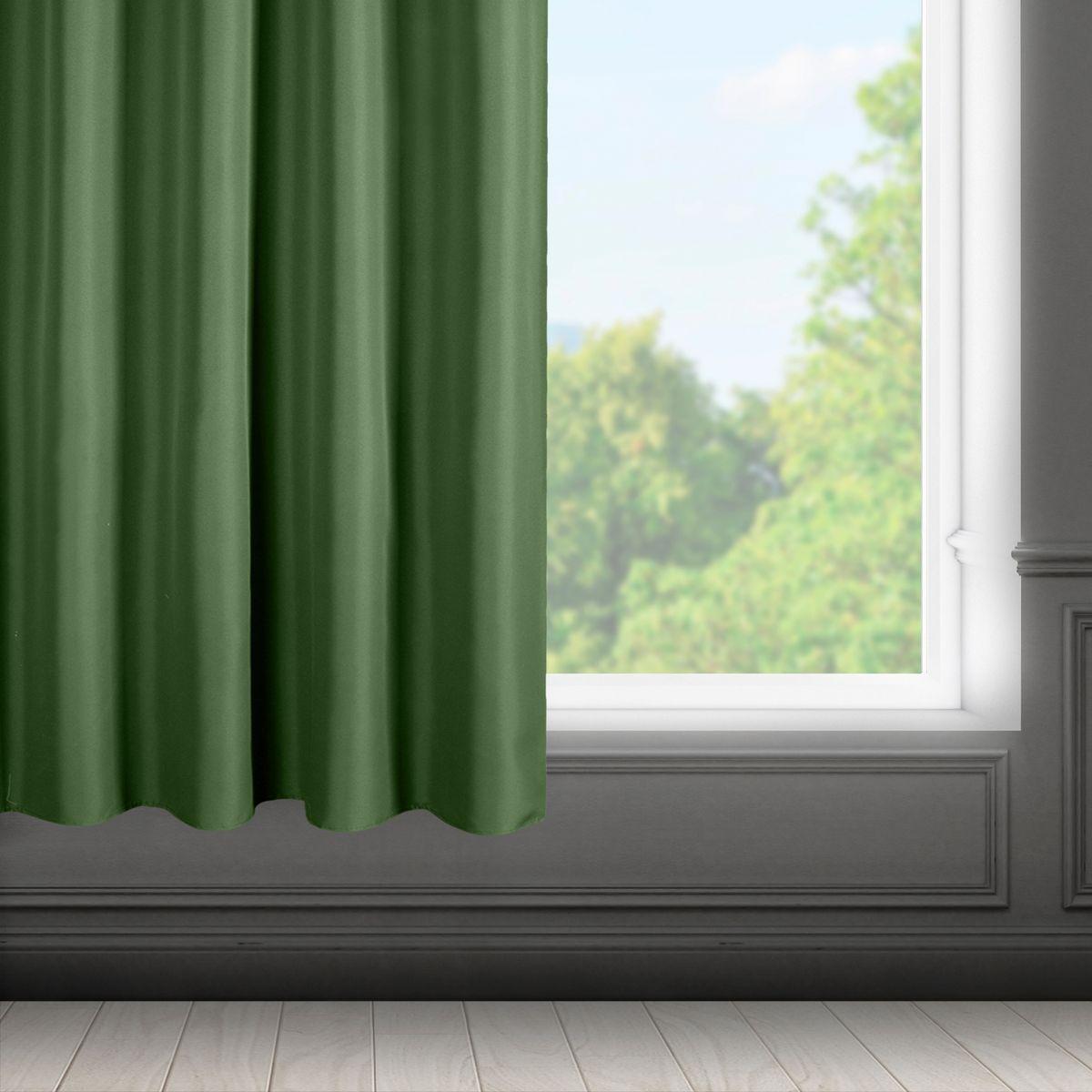 Zelený záves na páske RITA 140x175 cm