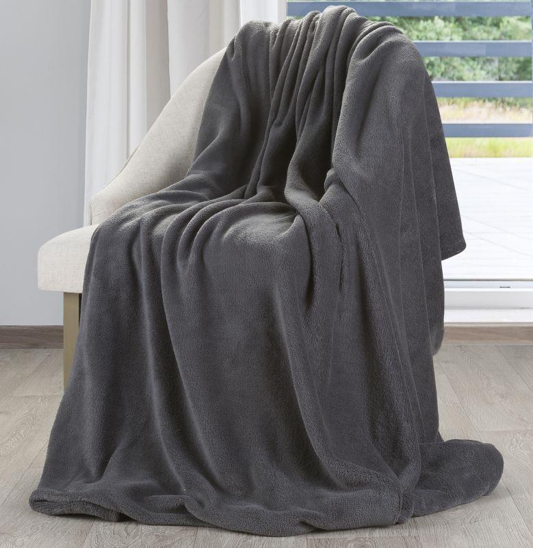 Jemná sivá deka SIMPLE 150x200 cm