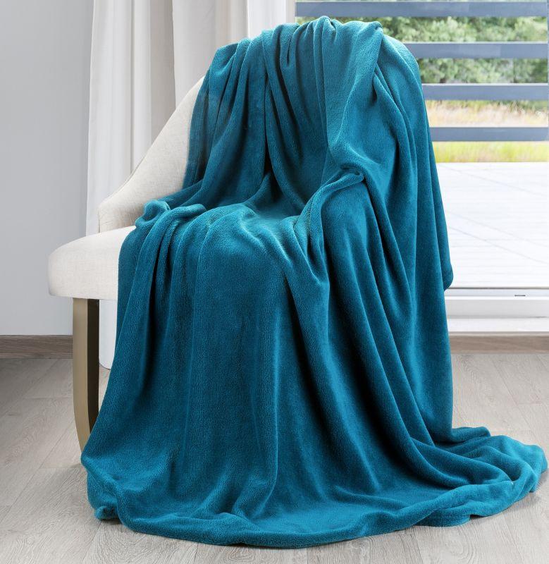 Jemná tyrkysová deka SIMPLE 150x200 cm