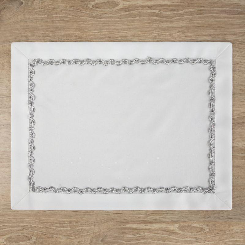Biele prestieranie na stôl ELINA 30 x 40 cm/x 4