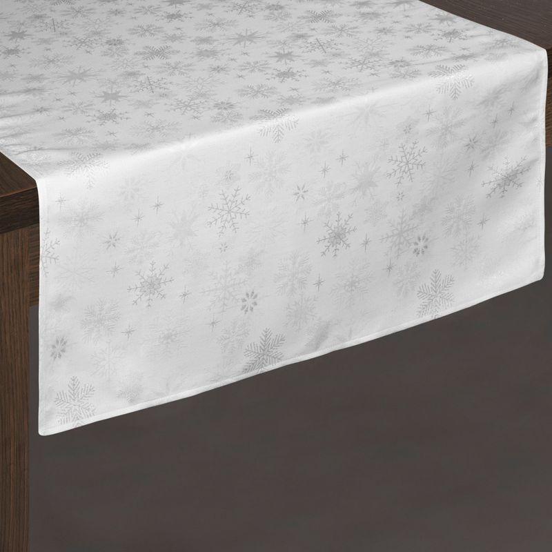 Biely vianočný behúň na stôl EMBER 70 x 150