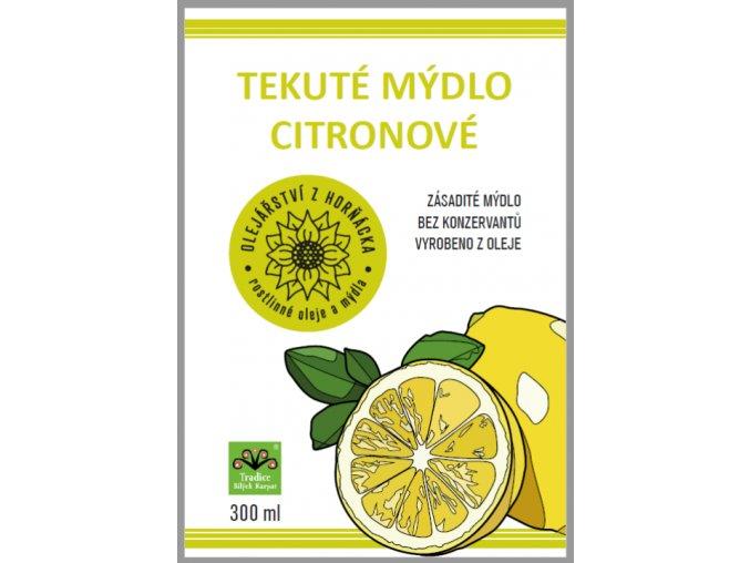 Citronové mýdlo