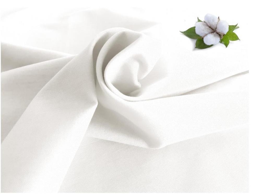 NOVINKA-Plátno v gramáží 180g/m2, 150cm bílá